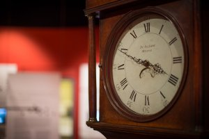 A long-case clock