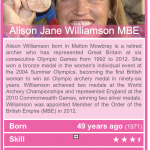 Photograph of Alison Jane Williamson MBE